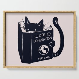 World Domination For Cats Serving Tray