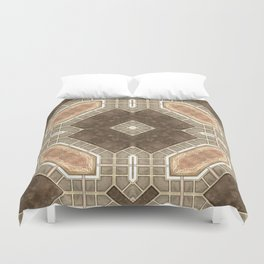 Victorian Art Deco Medieval Pattern brown SB28 Duvet Cover
