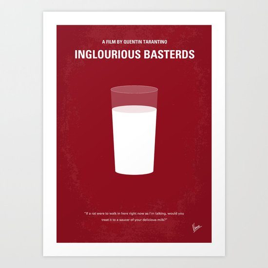 No138 My Inglourious Basterds minimal movie poster Art Print