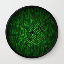 Silhouette of fingerprint Wall Clock