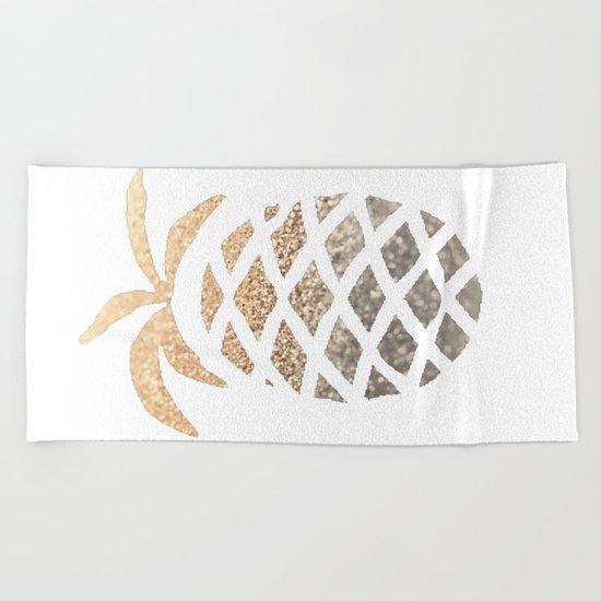 GOLD PINEAPPLE Beach Towel