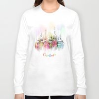 vienna Long Sleeve T-shirts featuring Christmas in Vienna by tatiana-teni