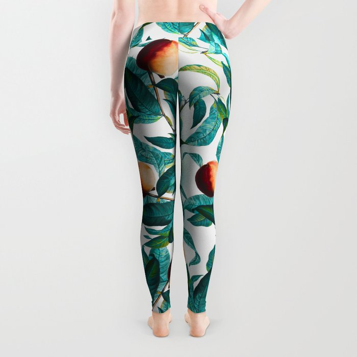Fruit and Leaf Pattern Leggings