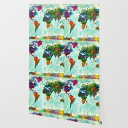 Abstract Map of the World Wallpaper