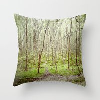 irish Throw Pillows featuring Irish Forest  by MojoPhoto59
