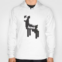 lamb Hoodies featuring LAMB by MDRMDRMDR