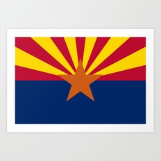Arizona State flag, Authentic version - color and scale Art Print