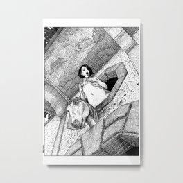 asc 763 - La statue équestre (A ride with Saddle Mark) Metal Print