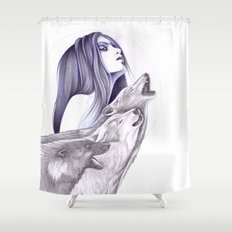 Call Of The Wolves Shower Curtain