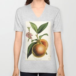 A peach plant - vintage illustration Unisex V-Neck