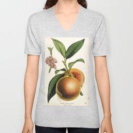A peach plant - vintage illustration Unisex V-Neck