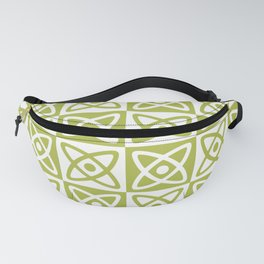 Mid Century Modern Atomic Check 140 Olive Green Fanny Pack