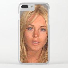 LINDSAY LOHAN MUGSHOT Clear iPhone Case