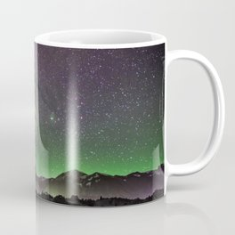 Night Sky Star Landscape - Purple Green Coffee Mug