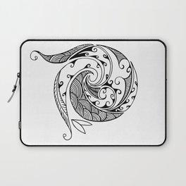 Creation in Black Laptop Sleeve