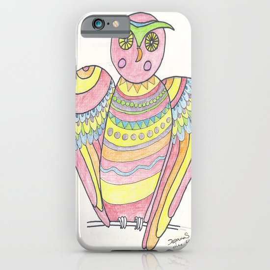 Owl hand drawing iPhone & iPod Case