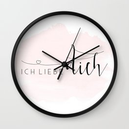 ICH LIEBE DICH,Love Quote,Love Gift,Boyfriend Gift,Gift For Couples,Anniversary Quote,Valentines Day Wall Clock