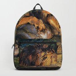 Edwin Henry Landseer - Lion Defending its Prey - Digital Remastered Edition Backpack