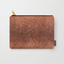Light Textured Copper Rose Foil Carry-All Pouch