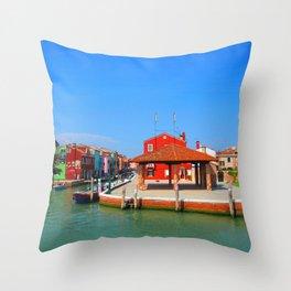 Drunken Fishermen Throw Pillow