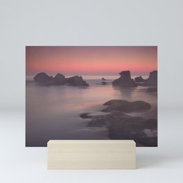 Foggy sunset. Roche Reefs. Sancti Petri. Spain Mini Art Print