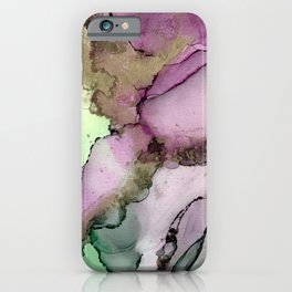 Green Window      Alcohol Ink Painting iPhone Case