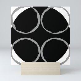 Grey Circles Circling A Midnight Circle Mini Art Print