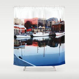 Serenity Floats Shower Curtain