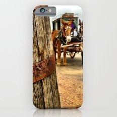 A barrel and some donkeys. iPhone 6s Slim Case
