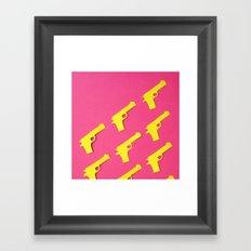 Guns Papercut Framed Art Print