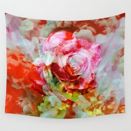 Fall Colored Rose Wall Tapestry