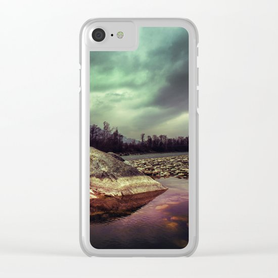 Mystic River Clear iPhone Case