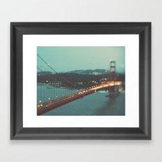 San Francisco Golden Gate Bridge, Sweet Light Framed Art Print