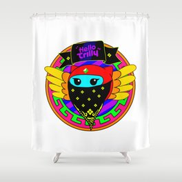 Trilly Crooked Smile Shower Curtain