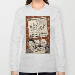 World War Two Propaganda Poster Long Sleeve T-shirt