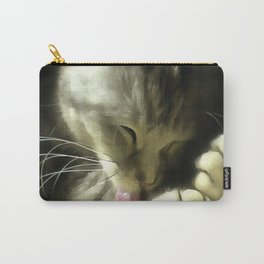 Soft And Gentle Fur And Purr Of A Grey Cat Carry-All Pouch