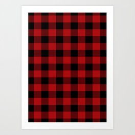 Red & Black Buffalo Plaid Art Print
