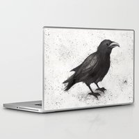 justin timberlake Laptop & iPad Skins featuring Crow by Puddingshades