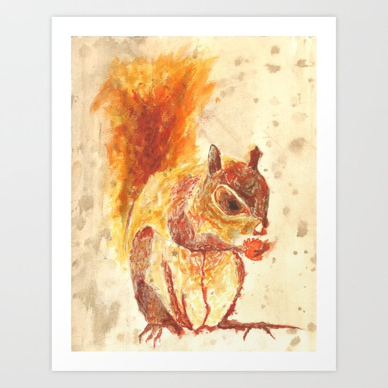 Squirrel Monster Art Print