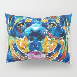 Colorful Rottie Art - Rottweiler by Sharon Cummings Pillow Sham