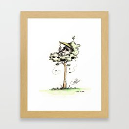 Man in Tree Framed Art Print