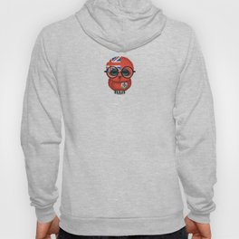 Baby Owl with Glasses and Bermuda Flag Hoody
