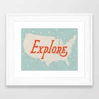 explore Framed Art Prints featuring Explore by Landon Sheely
