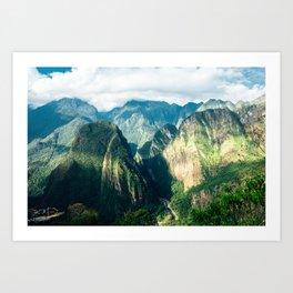 Beside Machu Picchu Art Print
