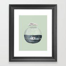 Glass Bowl House Framed Art Print