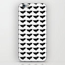 bat silhouette repeat pattern iPhone Skin