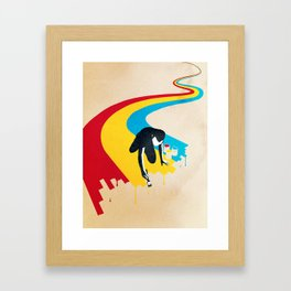 Rainbow Road Framed Art Print