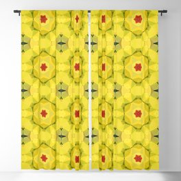 Yellow and Red Geometric Pattern Blackout Curtain