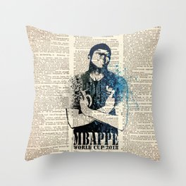 France world cup 2018 code09 Throw Pillow