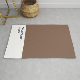 Chocolate Pantone Chip • Cocoa • Brown • Coffee • Espresso • Neutral • Tan • Sweet • Dessert • Food Rug